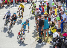 Vincenzo Nibali on Col du Glandon - Tour de France 2015 Royalty Free Stock Photos