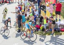 Vincenzo Nibali sur Col du Glandon - Tour de France 2015 image stock
