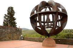 Vinci Памятник Vitruvian Стоковые Изображения RF