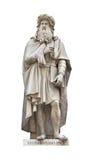 vinci för staty för cutouda-leonardo Arkivfoton