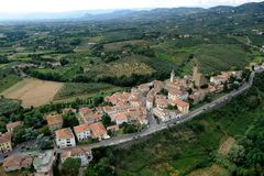 Vinci-Italy. Aerial view of Vinci, Tuscany-Italy royalty free stock images