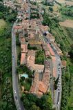 Vinci-Italy. Aerial view of Vinci, Tuscany-Italy stock photography
