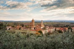 Vinci, near Florence, is the birthplace of Leonardo Da Vinci royalty free stock photography