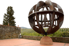 Vinci. Vitruvian monument. Leonardo da Vinci tribute in Vinci. Tuscany royalty free stock images