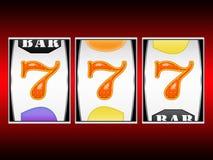Vincite delle slot machine Immagini Stock