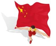 Vincitore cinese della corsa Fotografie Stock Libere da Diritti
