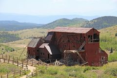 Vincitore, città CO- delle miniere - traccia della valle del Vindicator fotografia stock libera da diritti