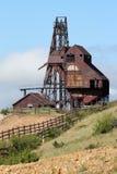 Vincitore, città CO- delle miniere - traccia della valle del Vindicator immagini stock
