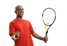 Vincitore del giocatore di tennis Fotografia Stock