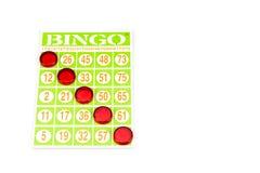 Vincitore del gioco di bingo Fotografia Stock