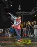 Vincitore della concorrenza di dancing a Belgrado Fotografia Stock Libera da Diritti
