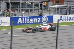 Vincitore della corsa di formula 1 Fotografia Stock
