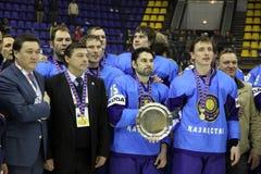 Vincitore della divisione 1 di campionato del mondo del Ghiaccio-hokey di IIHF Fotografia Stock
