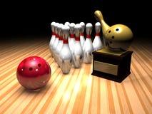Vincitore di bowling Fotografia Stock Libera da Diritti