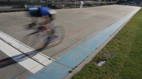 Vincitore di sprint del ciclo Fotografia Stock Libera da Diritti