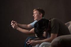 Vincitore e perdente del video gioco Fotografie Stock Libere da Diritti