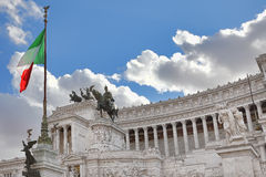 Monumento di Emmanuel II del vincitore. Roma, Italia. Fotografia Stock Libera da Diritti