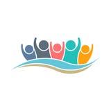 Vincitore Logo Design di lavoro di squadra illustrazione vettoriale