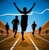 Vincitore olimpico della corsa Immagine Stock Libera da Diritti