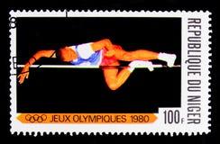 Vincitori ai giochi olimpici a Mosca, serie dei giochi olimpici, circa 1980 Fotografia Stock