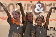 Vincitori della corsa del fango Fotografia Stock Libera da Diritti