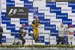 Vincitori della corsa di formula 1 Fotografie Stock Libere da Diritti