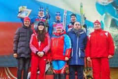 Vincitori di corsa continentale dello sci della tazza di FIS immagini stock