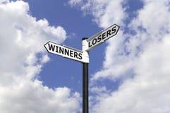 Vincitori e perdenti fotografia stock