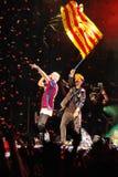Vincitori Macklemore & Ryan Lewis di Grammy durante la sua manifestazione nel festival di Cruilla Barcellona, il 12 luglio 2014 fotografia stock libera da diritti