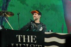 Vincitori Macklemore & Ryan Lewis di Grammy durante la sua manifestazione nel festival di Cruilla Barcellona, il 12 luglio 2014 immagini stock