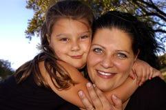 Vinculación de la madre y de la hija Fotos de archivo libres de regalías