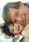 Vinculación del padre y del niño Foto de archivo libre de regalías