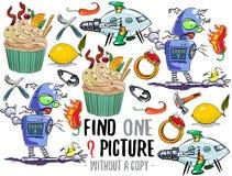 Vind één beeld onderwijsspel stock illustratie