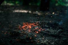 Vind blåser på kol Arkivbilder