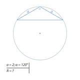 Vind de diameter van de omcirkelde cirkel stock illustratie