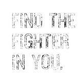 Vind de Vechter in u motivatiecitaat vector illustratie
