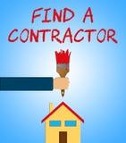 Vind een Contractant wil vindend Bouwers 3d Illustratie stock illustratie