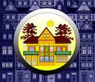 Vind een Huis stock illustratie