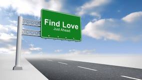 Vind liefdeteken over open weg royalty-vrije illustratie