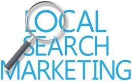 Vind Lokaal Onderzoek Marketing Hulpmiddel vector illustratie