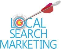 Vind Lokale Onderzoek Gerichte Marketing vector illustratie