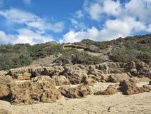 Vind och havet eroderade kusten av Sardinia, Italien Royaltyfria Foton