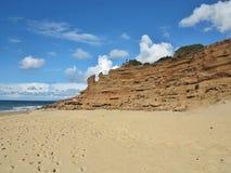 Vind och havet eroderade kusten av Sardinia, Italien Arkivfoton