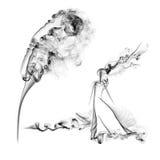 Vind och rök Royaltyfria Bilder