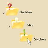 Vind oplossing Stock Foto