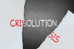 Vind oplossing voor crisis stock afbeelding