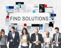 Vind Oplossingsprobleem het Oplossen het Concept van het Vooruitgangsresultaat stock afbeeldingen