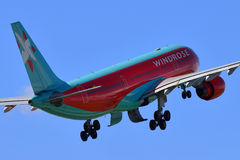 Vind Rose Aviation Airbus A330 Arkivbilder
