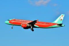 Vind Rose Aviation Airbus A320 Fotografering för Bildbyråer