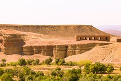 Vind som spolar ren topografi av Marocko royaltyfria foton
